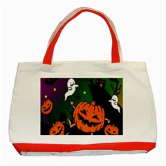 Happy Halloween Classic Tote Bag (red) by Mariart