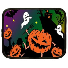 Happy Halloween Netbook Case (large) by Mariart