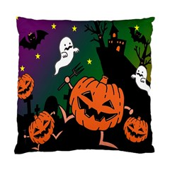 Happy Halloween Standard Cushion Case (two Sides) by Mariart