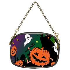 Happy Halloween Chain Purses (two Sides)  by Mariart