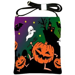 Happy Halloween Shoulder Sling Bags by Mariart