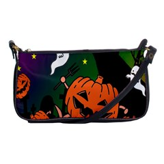Happy Halloween Shoulder Clutch Bags by Mariart