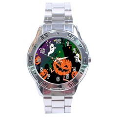 Happy Halloween Stainless Steel Analogue Watch by Mariart