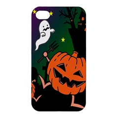 Happy Halloween Apple Iphone 4/4s Premium Hardshell Case by Mariart
