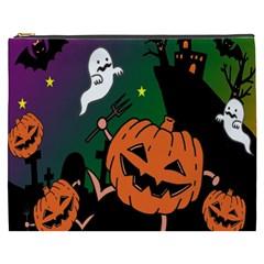 Happy Halloween Cosmetic Bag (xxxl)  by Mariart