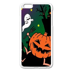 Happy Halloween Apple Iphone 6 Plus/6s Plus Enamel White Case by Mariart