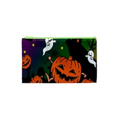 Happy Halloween Cosmetic Bag (xs) by Mariart