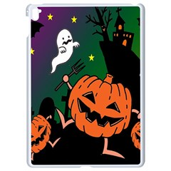 Happy Halloween Apple Ipad Pro 9 7   White Seamless Case by Mariart