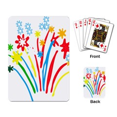 Fireworks Rainbow Flower Playing Card by Mariart