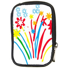 Fireworks Rainbow Flower Compact Camera Cases by Mariart