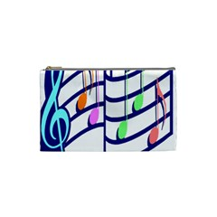 Music Note Tone Rainbow Blue Pink Greeen Sexy Cosmetic Bag (small)  by Mariart