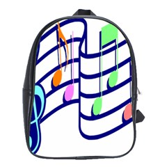 Music Note Tone Rainbow Blue Pink Greeen Sexy School Bag (large) by Mariart