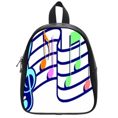 Music Note Tone Rainbow Blue Pink Greeen Sexy School Bag (small) by Mariart