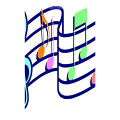 Music Note Tone Rainbow Blue Pink Greeen Sexy Shower Curtain 48  X 72  (small)  by Mariart