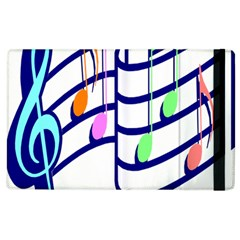 Music Note Tone Rainbow Blue Pink Greeen Sexy Apple Ipad 3/4 Flip Case by Mariart