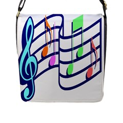 Music Note Tone Rainbow Blue Pink Greeen Sexy Flap Messenger Bag (l)  by Mariart