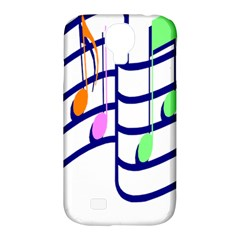 Music Note Tone Rainbow Blue Pink Greeen Sexy Samsung Galaxy S4 Classic Hardshell Case (pc+silicone) by Mariart