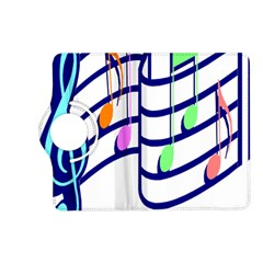 Music Note Tone Rainbow Blue Pink Greeen Sexy Kindle Fire Hd (2013) Flip 360 Case by Mariart