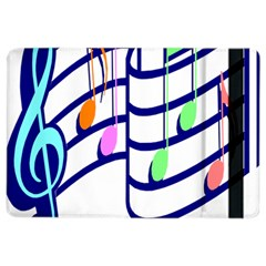 Music Note Tone Rainbow Blue Pink Greeen Sexy Ipad Air 2 Flip by Mariart
