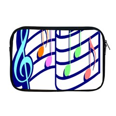 Music Note Tone Rainbow Blue Pink Greeen Sexy Apple Macbook Pro 17  Zipper Case by Mariart
