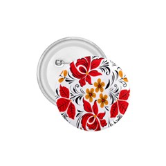 Flower Red Rose Star Floral Yellow Black Leaf 1 75  Buttons by Mariart