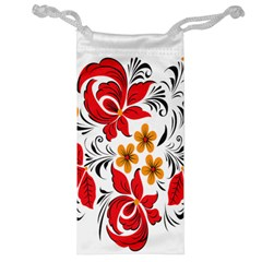 Flower Red Rose Star Floral Yellow Black Leaf Jewelry Bag