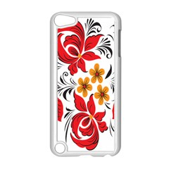 Flower Red Rose Star Floral Yellow Black Leaf Apple Ipod Touch 5 Case (white) by Mariart