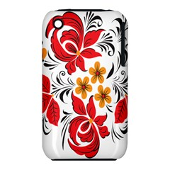 Flower Red Rose Star Floral Yellow Black Leaf Iphone 3s/3gs by Mariart