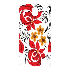 Flower Red Rose Star Floral Yellow Black Leaf Samsung Galaxy Note 3 N9005 Hardshell Back Case by Mariart