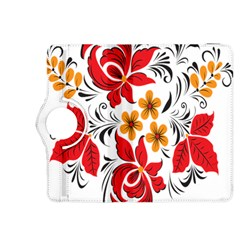 Flower Red Rose Star Floral Yellow Black Leaf Kindle Fire Hdx 8 9  Flip 360 Case by Mariart