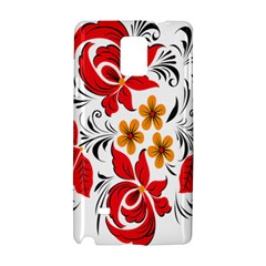 Flower Red Rose Star Floral Yellow Black Leaf Samsung Galaxy Note 4 Hardshell Case by Mariart