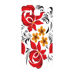 Flower Red Rose Star Floral Yellow Black Leaf Samsung Galaxy Alpha Hardshell Back Case by Mariart