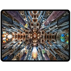 Iron Glass Space Light Fleece Blanket (large)  by Mariart