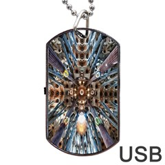 Iron Glass Space Light Dog Tag Usb Flash (two Sides) by Mariart