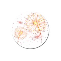 Fireworks Triangle Star Space Line Magnet 3  (round) by Mariart