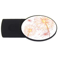 Fireworks Triangle Star Space Line Usb Flash Drive Oval (4 Gb) by Mariart