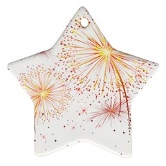 Fireworks Triangle Star Space Line Star Ornament (two Sides) by Mariart