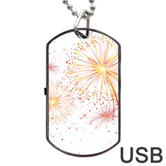 Fireworks Triangle Star Space Line Dog Tag Usb Flash (two Sides) by Mariart