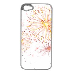 Fireworks Triangle Star Space Line Apple Iphone 5 Case (silver) by Mariart