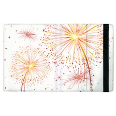 Fireworks Triangle Star Space Line Apple Ipad 2 Flip Case by Mariart