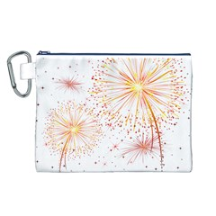 Fireworks Triangle Star Space Line Canvas Cosmetic Bag (l) by Mariart