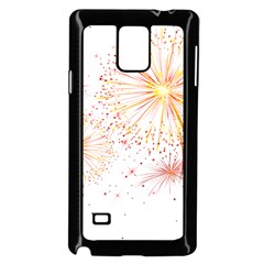 Fireworks Triangle Star Space Line Samsung Galaxy Note 4 Case (black) by Mariart
