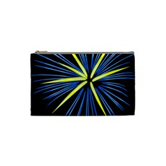 Fireworks Blue Green Black Happy New Year Cosmetic Bag (small)  by Mariart