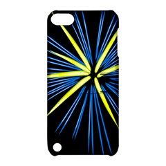 Fireworks Blue Green Black Happy New Year Apple Ipod Touch 5 Hardshell Case With Stand by Mariart