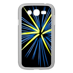 Fireworks Blue Green Black Happy New Year Samsung Galaxy Grand Duos I9082 Case (white) by Mariart