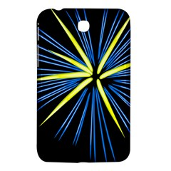 Fireworks Blue Green Black Happy New Year Samsung Galaxy Tab 3 (7 ) P3200 Hardshell Case  by Mariart