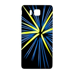 Fireworks Blue Green Black Happy New Year Samsung Galaxy Alpha Hardshell Back Case by Mariart