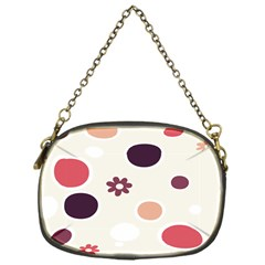 Polka Dots Flower Floral Rainbow Chain Purses (one Side)  by Mariart