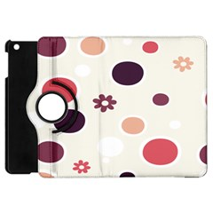 Polka Dots Flower Floral Rainbow Apple Ipad Mini Flip 360 Case by Mariart