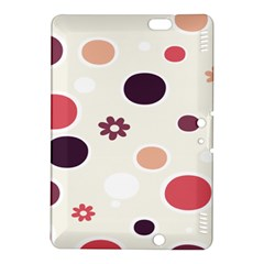 Polka Dots Flower Floral Rainbow Kindle Fire Hdx 8 9  Hardshell Case by Mariart